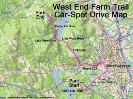 directions to West End Farm Trail and here is a Car Spot Drive Map