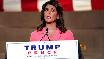 Nikki Haley after RNC speech says she is open to rejoining Trump administration