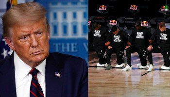 Trump calls Black Lives Matter a 'Marxist group,' rips athletes kneeling for anthem