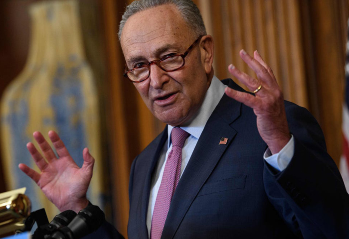 Chuck Schumer hears from voter during SCOTUS remarks: 'Stop lying!'