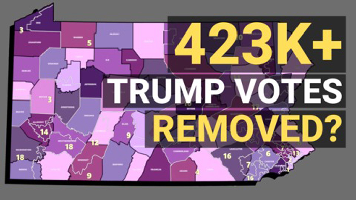 Over 432,000 Votes Removed From Trump in Pennsylvania, Data Scientists Say