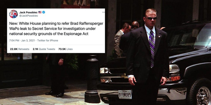 White House Planning to Refer Brad Raffensperger to Secret Service for Investigation Under the Espionage Act