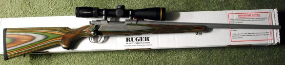 Ruger M77 Hawkeye Predator with Leupold Gold Ring 3-18x44mm