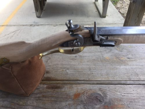 First shots from the Pennsylvania Lancaster Flintlock Rifle