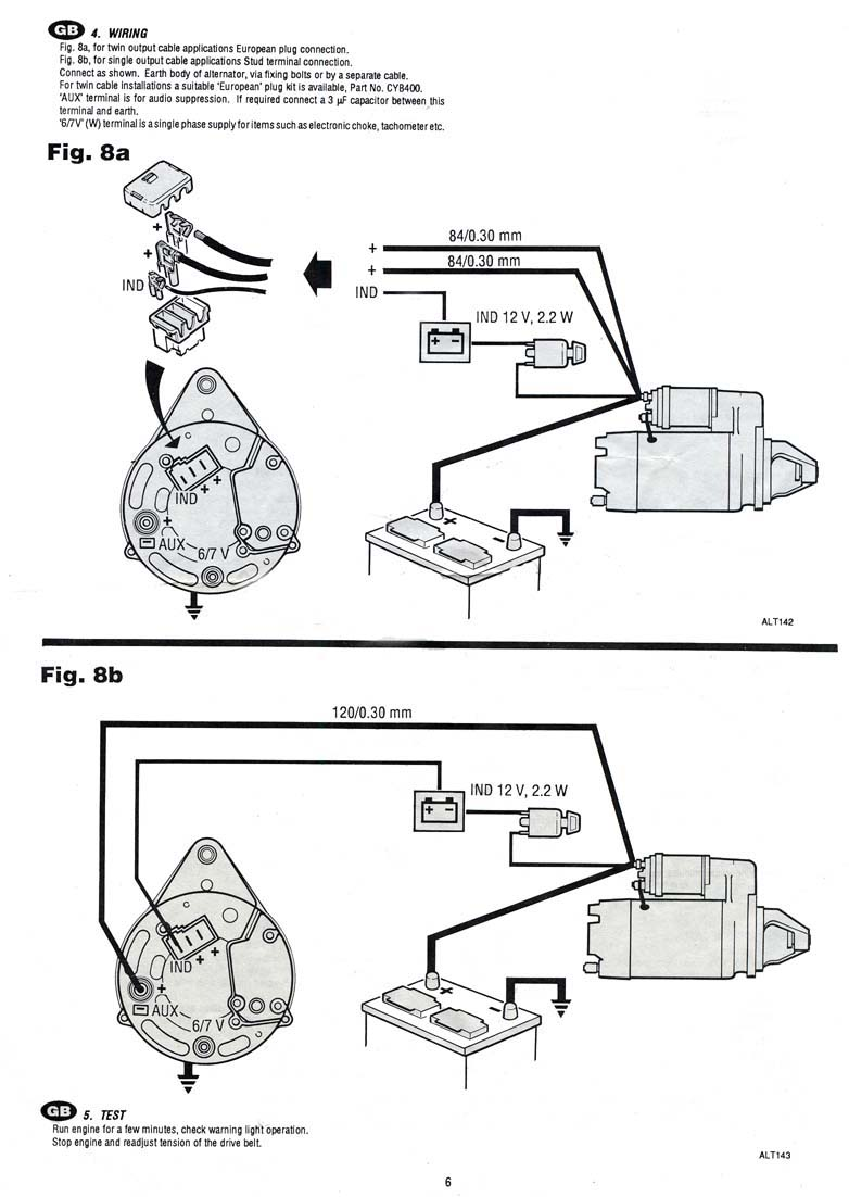 Acr Alternator Wiring Diagram : Lucas acr alternator wiring diagram images