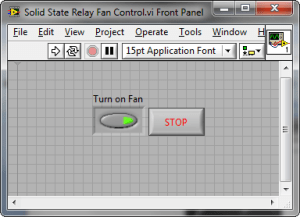 Turn on a DC Computer Fan using a SolidState Relay, myDAQ, and LabVIEW  National Instruments
