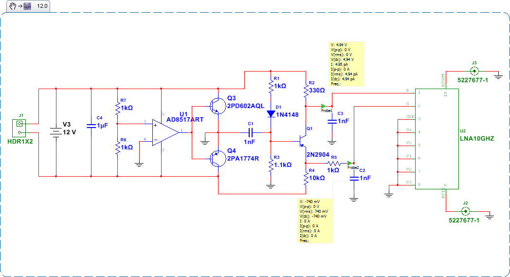 Microwave Circuit Schematic