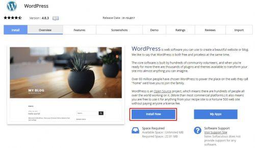 cara membuat blog install wp
