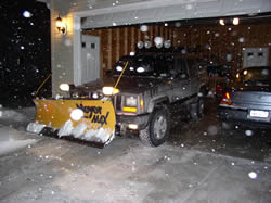 XJ ready to plow snow.