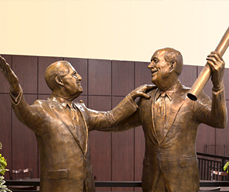 "Susan Geissler's sculpture ""The Founders"" currently featured inside the Niagara Falls Culinary Institute."