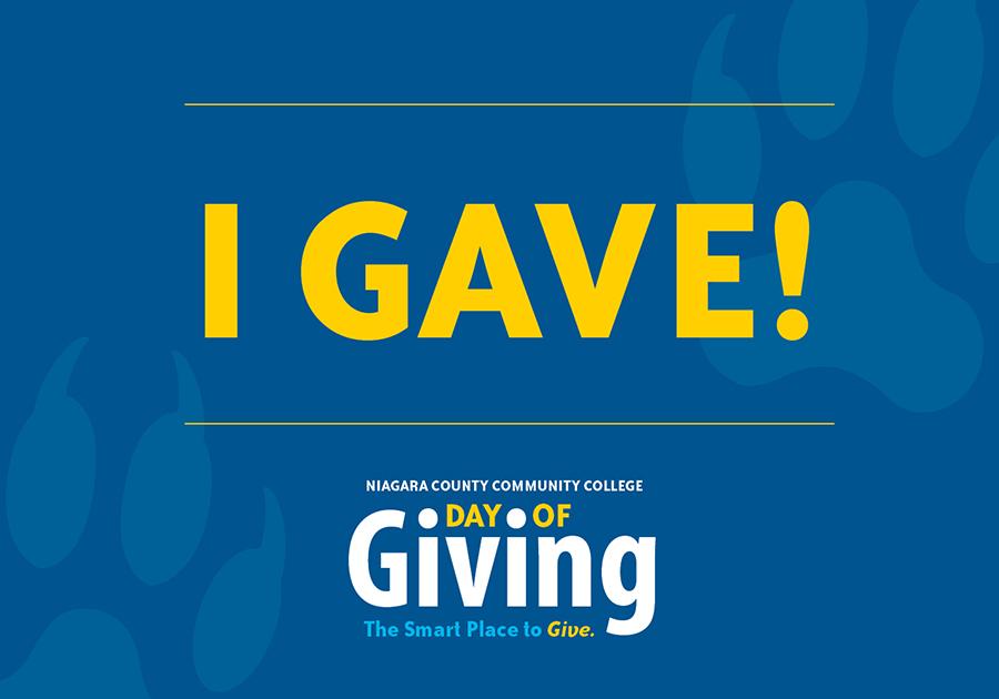 I gave!