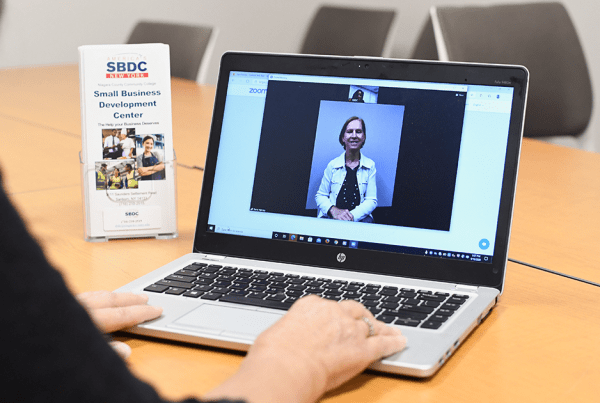 Individual participates in free webinar offered by the Niagara SBDC