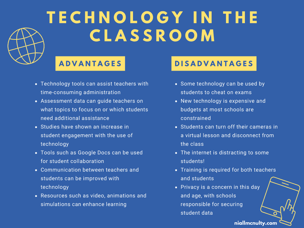 Advantages and disadvantages of technology in the classroom