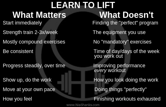 learn to lift what matters and what doesn't