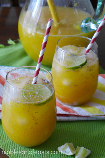 Mango Limeade with Chia - Nibbles and Feasts