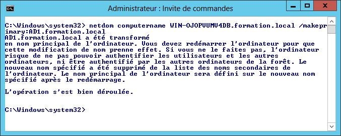Rename Domain Controller - Make name as primary