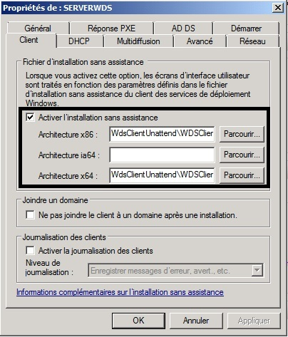 WDS automated configure unattend file