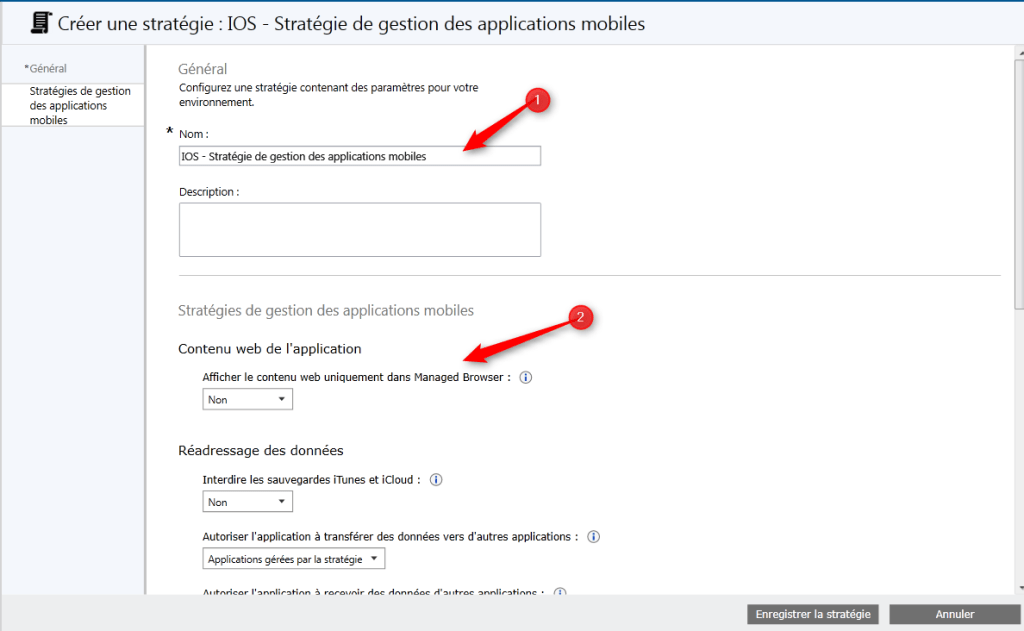 Manage application with Intune Manage policy