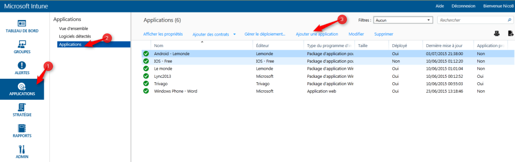 Manage application with Intune Add application