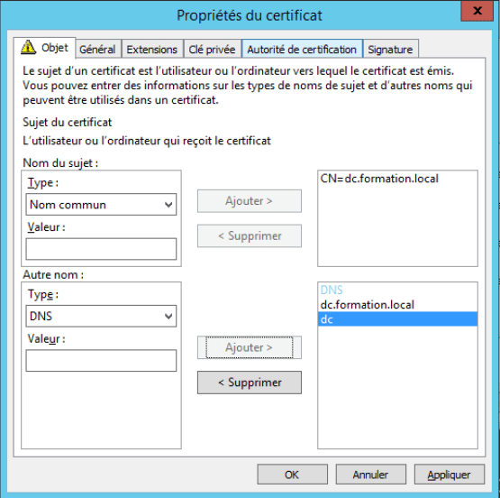 Manage Workgroup Workstation Configure certificate