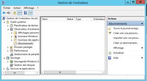 Configure Subscriptions Events Create suscription