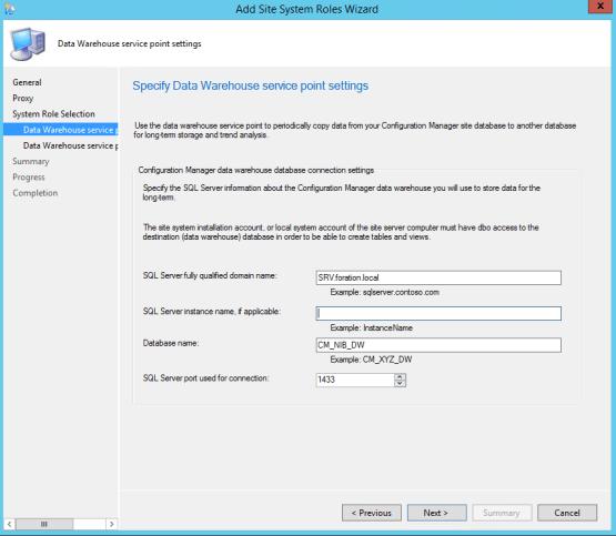 Configure SQL