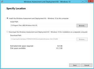 Install Windows ADK