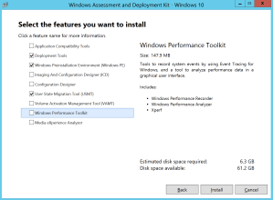 Update SCCM 2012 R2 to SCCM CB Select Features