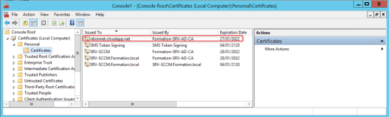 Configure CMG Certificate has been issued