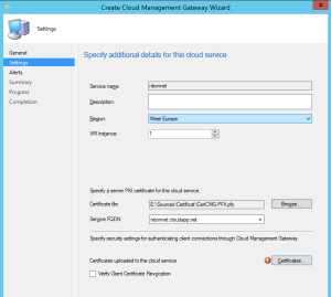 Configure Cloud Management Gateway