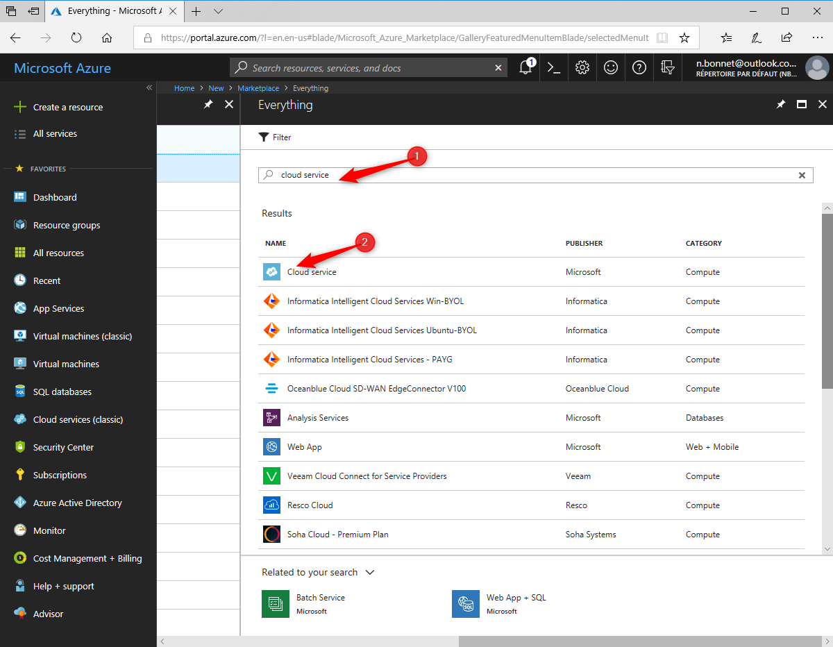 Configure cloud distribution Point Create application on Azure