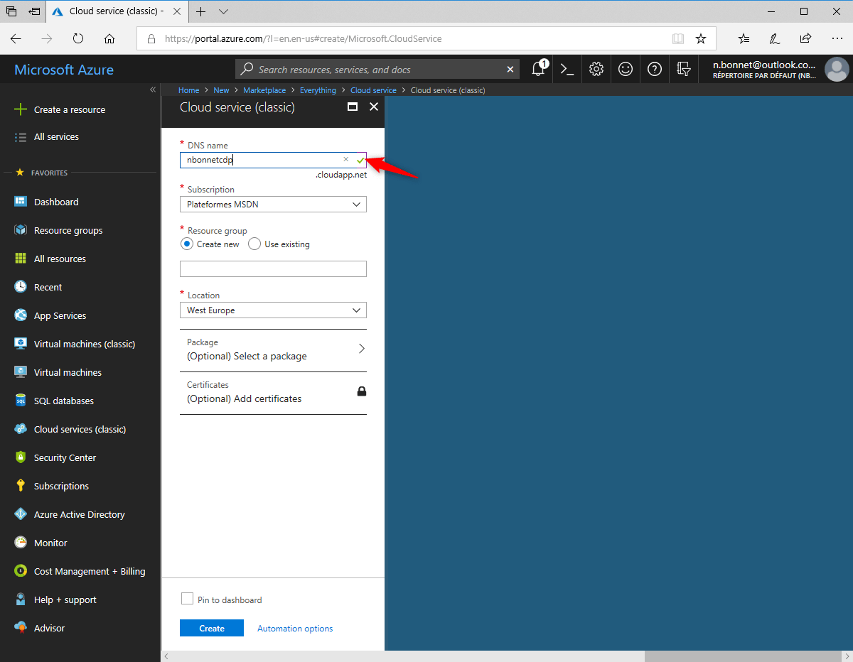 Configure cloud distribution Point Configure application on Azure
