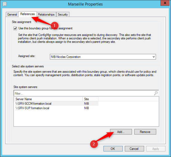 Configure Boundary Groups for Azure