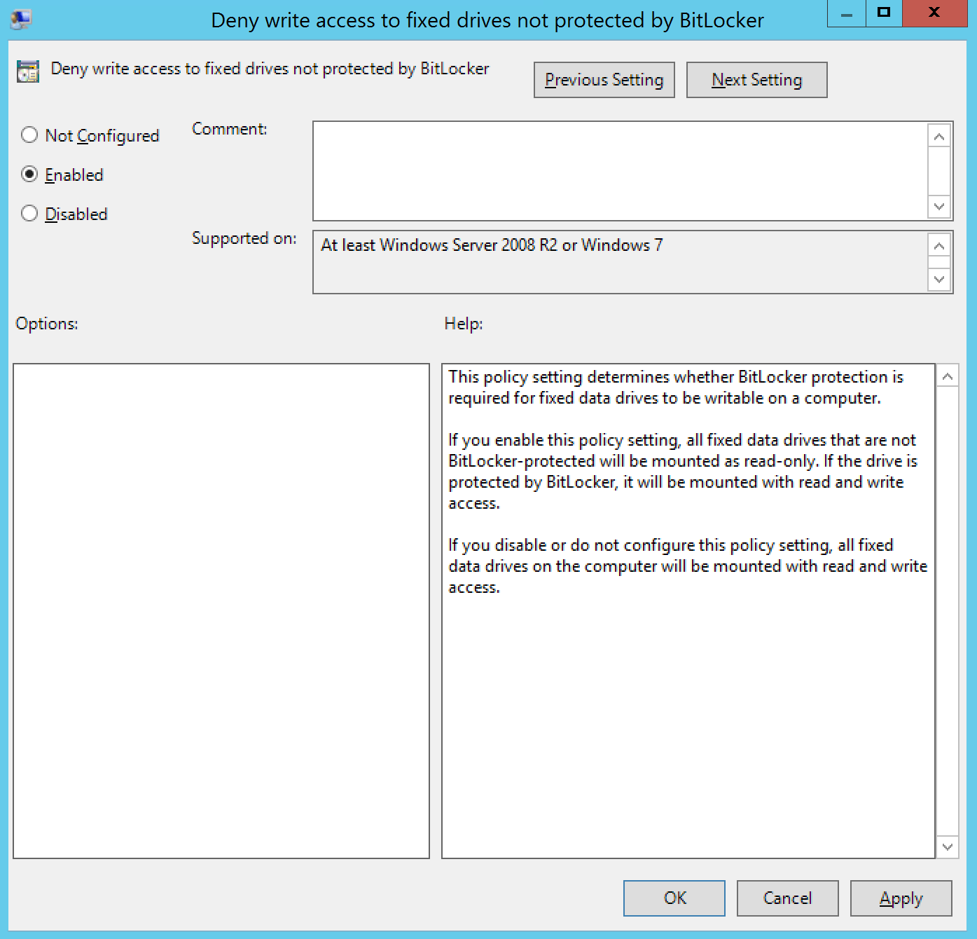 Deny Write access to fixed drives