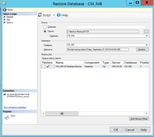 Add database on the server