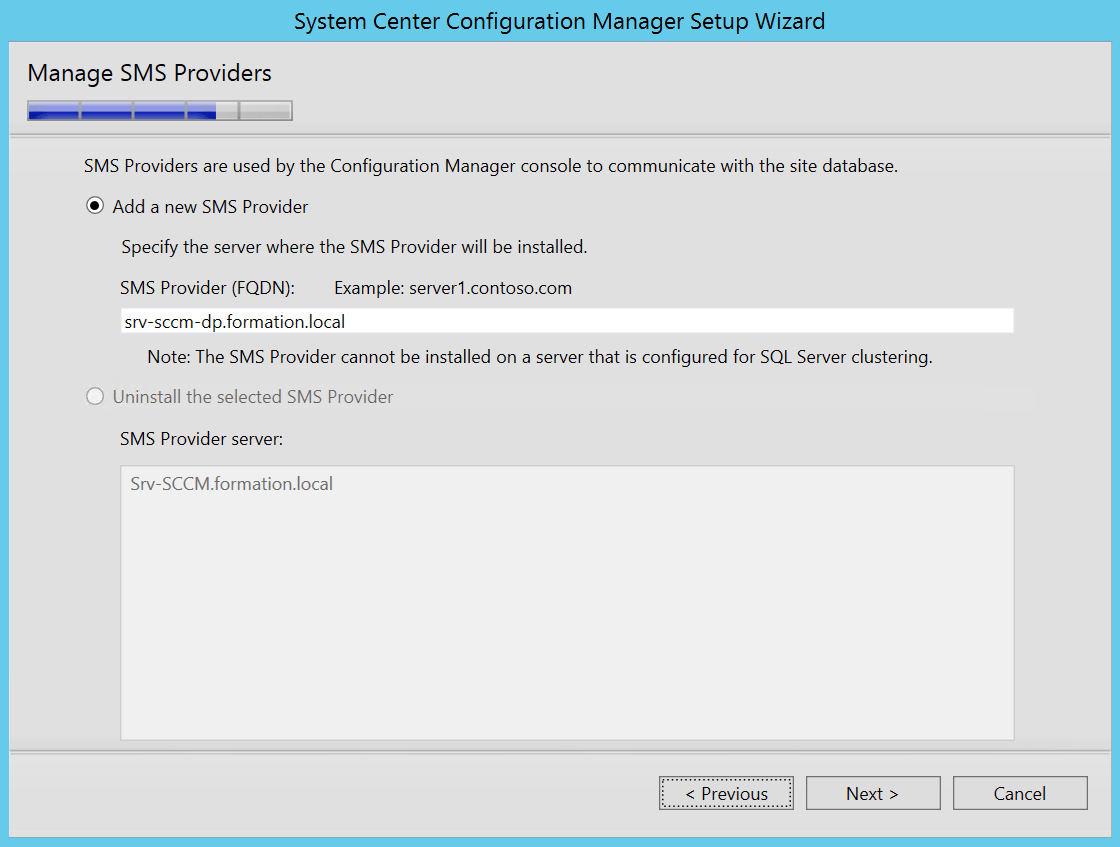 Add Srv-Sccm-dp.formation.local