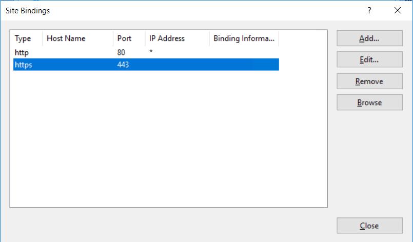 Configure bindings