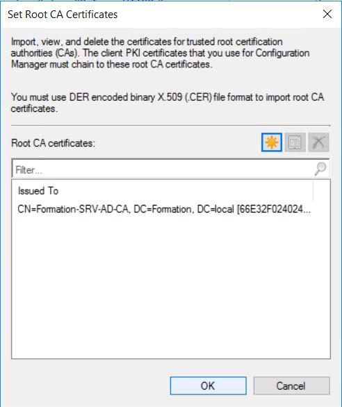 Select root ca