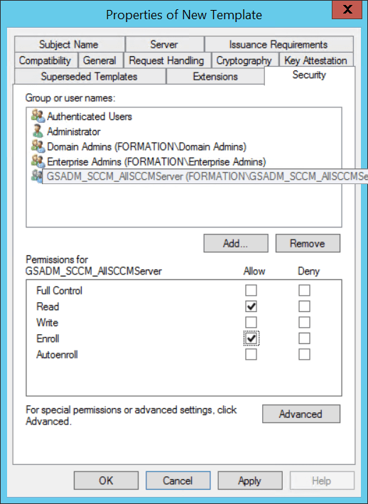 Configure cloud distribution Point - Configure security