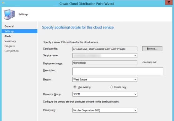 Configure Distribution Point