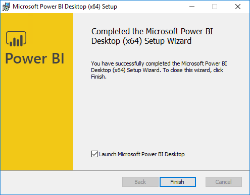 Integrate Power BI with SCCM - installation is finished