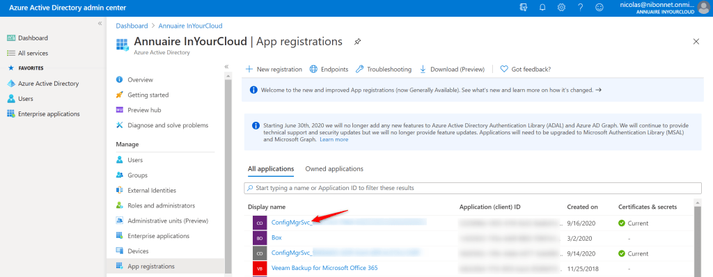 Application has been present on Azure AD