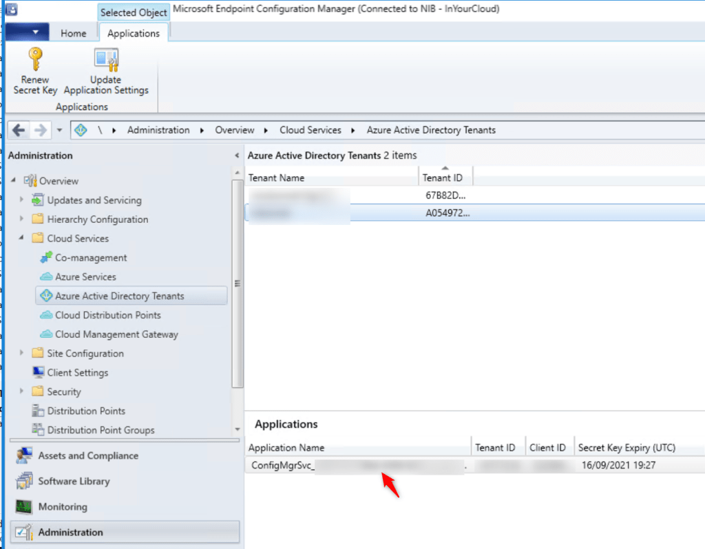 Application has present on Configuration Manager