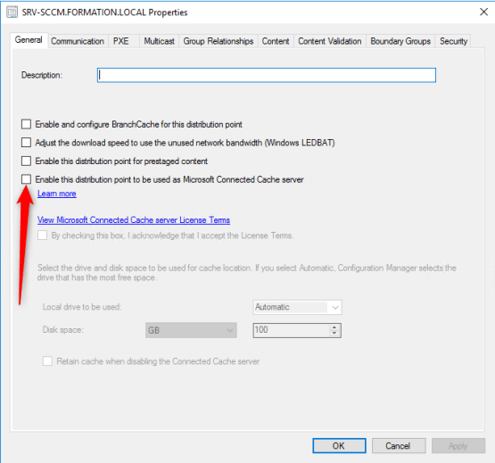 Microsoft Connected Cache - Enable server cache