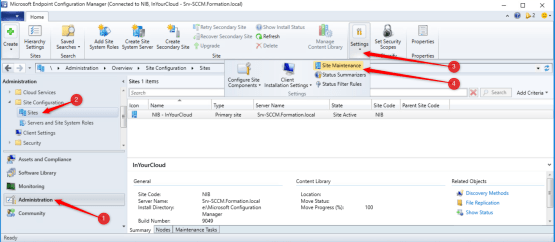 Migrate your sccm server to a newer server - Access to Site maintenance