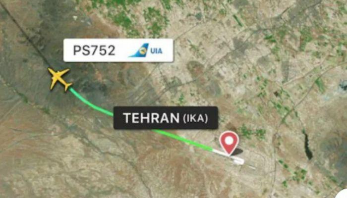 Avión se estrella en Irán