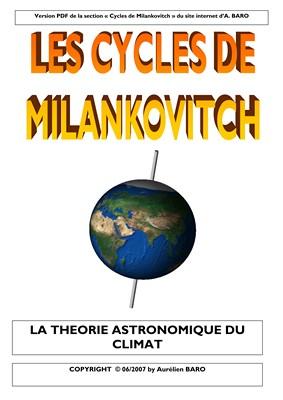 Cycles Milankovitch - Téhorie astronomique climat