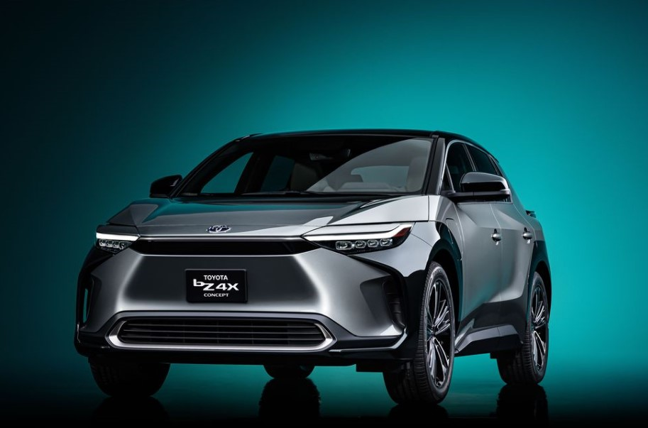 The 2022 bZX4 concept is almost the same as the RAV4 crossover, but with a lower body, sharper styling and a longer wheelbase.
