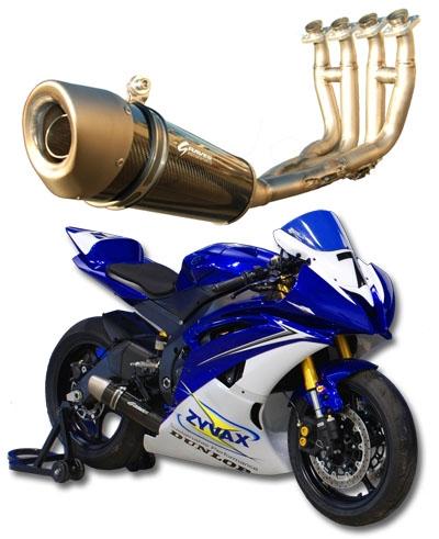 graves motorsports yamaha r6 full titanium works exhaust system 2006 present carbon fiber canister