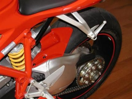 Ducati 848 Rear Tire Hugger Short Version